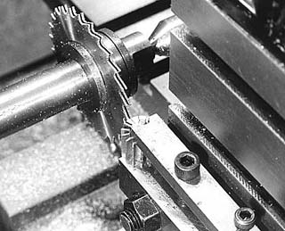 Spoke milling – closeup